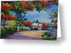 Walking In The Sunshine Greeting Card