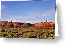 Walking In The Valley Of The Gods Greeting Card by Christine Till