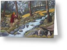 Walking In The Woods One Day Greeting Card