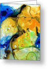 Walking On Sunshine - Abstract Painting By Sharon Cummings Greeting Card