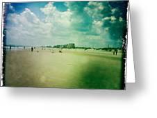 Walking On The Beach Greeting Card