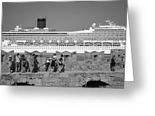 Walking On The Fortification Greeting Card