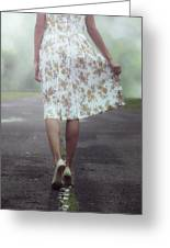Walking On The Street Greeting Card by Joana Kruse