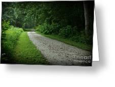 Walking Path Greeting Card