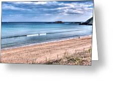 Walking The Beach On A Peaceful Morning Greeting Card