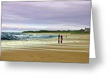Walking The Dog After A Storm Greeting Card
