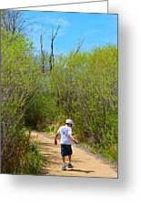 Walking The Ox Bow 2 Greeting Card