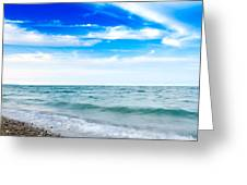 Walking The Shore - Extended Greeting Card by Steven Santamour