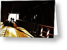 Walking Through History - Elizabethton Tennesse Covered Bridge Greeting Card
