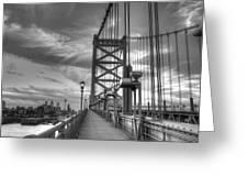 Walking To Philadelphia Greeting Card by Jennifer Ancker