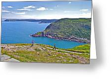 Walking Trails Everywhere In Signal Hill National Historic Site In St. John's-nl  Greeting Card