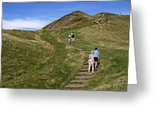 Walking Up Mam Tor Greeting Card