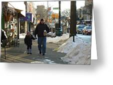 Walking With Dad Greeting Card