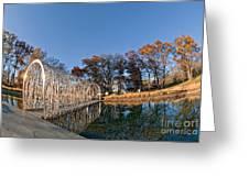 Walkway Across The Water Greeting Card