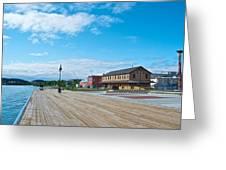 Walkway Along The Yukon River In Whitehorse-yk  Greeting Card