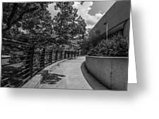 Walkway At Wharton Center Greeting Card
