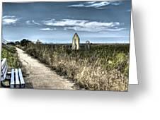 Walkway In The Marsh 2 Greeting Card