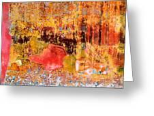 Wall Abstract 1 Greeting Card