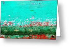 Wall Abstract 111 Greeting Card