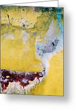 Wall Abstract 43 Greeting Card