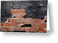 Wall Brick Greeting Card