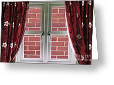 Wall Build Close To A Closed Window Greeting Card