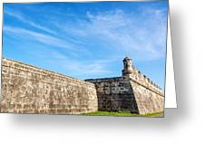 Wall Of Cartagena Colombia Greeting Card
