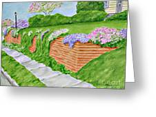Wall Of Flowers Greeting Card