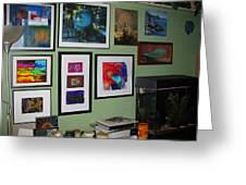 Wall Of Framed Greeting Card