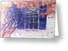 Wall Of Hydrangea Greeting Card