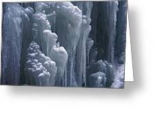 wall of ice in Partnach gorge 3 Greeting Card