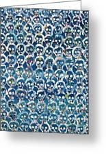 Wall Of Skulls Greeting Card