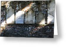 Wall Of Tombstones Knocked Down During Civil War Greeting Card