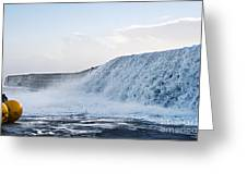 Wall Of Water Greeting Card