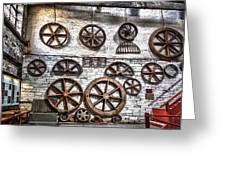 Wall Of Wheels Greeting Card