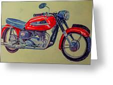 Wall Painted Motocycle Greeting Card