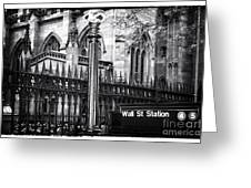 Wall St Station Greeting Card
