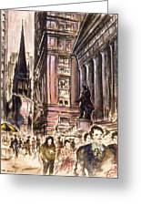 New York Wall Street - Fine Art Greeting Card