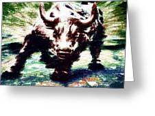 Wall Street Bull - Typography Greeting Card
