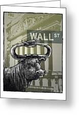 Wall Street Greeting Card