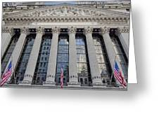 Wall Street New York Stock Exchange Nyse  Greeting Card