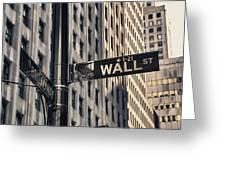 Wall Street Sign Greeting Card