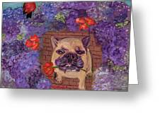 Wallace In The Garden Greeting Card