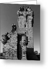 Wallace Monument Monochrome Greeting Card