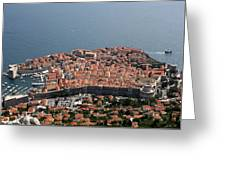 Walled City Of Dubrovnik Greeting Card