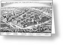 Wallenstein's Army Besieges  Leipzig Greeting Card
