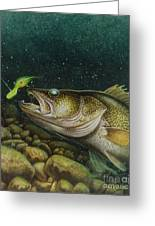 Walleye And Crank Bait Greeting Card