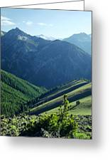 1m5903-wallowa Mountains And Valley Of The East Fork Greeting Card