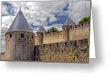 Walls Of Carcassonne Greeting Card
