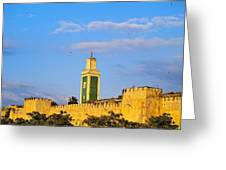 Walls Of Meknes In Morocco Greeting Card
